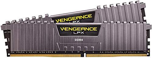 Corsair Vengeance LPX Arbeitsspeicher (16 GB (2 x 8 GB) DDR4 3000 (PC4-24000) C15 1,35 V Desktop-Speicherkit – Grau