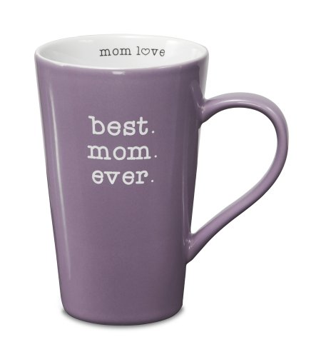 Pavilion Gift Company 14016 Stoneware Mug, Best Mom Ever (Mugs Latte Best)