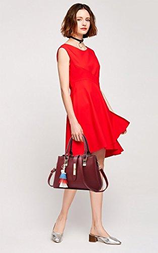 Borsa Coolives A Pu Della Del Design Rosso Borse Signore Cuoio Colorato Vino Tracolla Elegante waqXx5ar