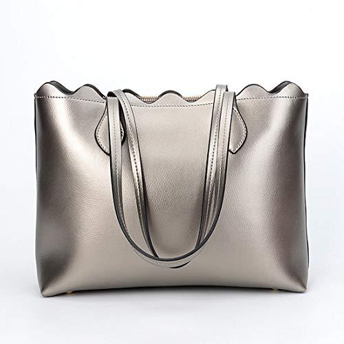 Pelle Tracolla Il Mano color A Borsa Silver Diagonale Silver In Libero Per Tempo Magai IXPw8qfxEx