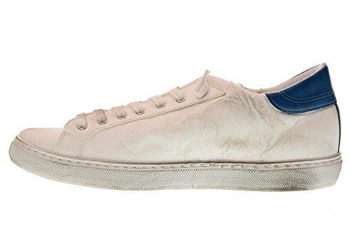 2 STAR Scarpe Uomo Sneakers Basse 2SU 1802 Bianco/Azzurro Bianco-azzurro
