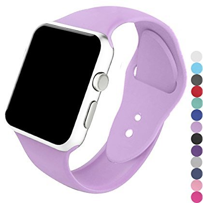 a8Miss Apple Watch Band, Silicone Replacement Iwatch Bands Series 1, Series 2,Series 3