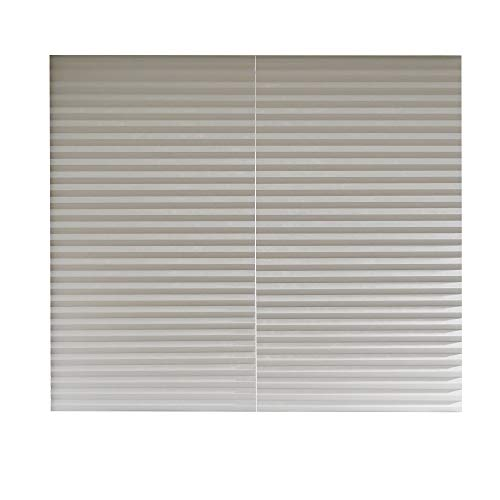 Aluminum Foil Coated Blackout Polyester Shades – Pleated Window Shades RICO Blinds White, Cordless Easy Durable, 36inch x 94inch, 2Pack (White, 94 inch)