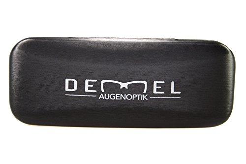 Demel Augenoptik étui à lunettes – le meilleur produit de sa catégorie ; étui à lunettes en noir avec incrustation velours et torchon en microfibres