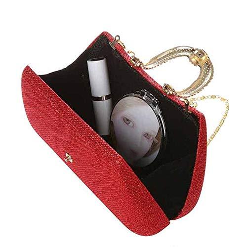 Perlato D Pochette Donna 10 Da Xrkz Perle 5 a Di Sposa Con Borsa Strass Paillettes Opzionale 17cm Lucenti qPTwAwfd