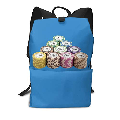 (Travel Backpack Business Daypack School Bag Poker Chip Large Compartment College Computer Bag Casual Rucksack For Women Men Hiking Camping Outdoor)