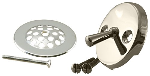 Westbrass Beehive Grid Tub Trim Grate with Trip Lever Faceplate, Polished Nickel, D92-05