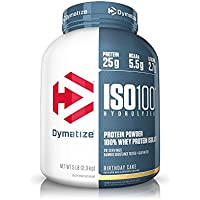 Dymatize ISO 100 Whey Protein Powder Isolate, Birthday Cake, 5 lbs