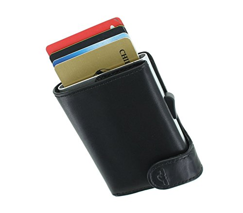 Sliding Tony Card RFID Brown Wallet 1 Perotti Protected Black Card with Mechanism 3681 UAUqpxC4