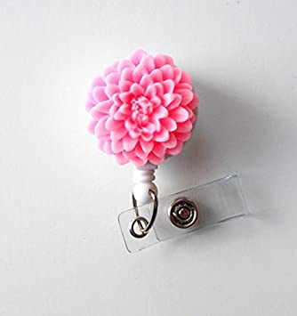 Light pink flower name badge holder retractable id badge reel light pink flower name badge holder retractable id badge reel nurse id badge mightylinksfo