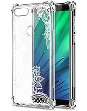 Oihxse Cristal Compatible con Samsung Galaxy A8 Star/G855Y/A9 Star Funda Transparente TPU Silicona Estuche Airbag Esquinas Anti-Choque Anti Rasguños Diseño Rosa Flower Caso (Flores B3)