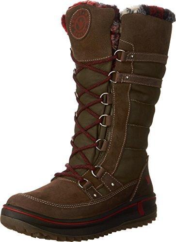 Santana Kanada Kvinna Phoenix Tall Boot Brun Crazy Horse Läder / Mocka