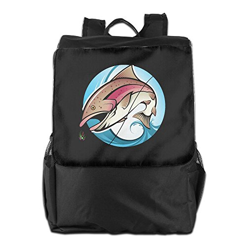 Fishing Celebrity Outdoor Men And Women Travel Backpack Painting The Picture On The Backpack ZHONGRANINC