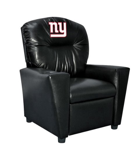 Shop Giants Furniture - Imperial Officially Licensed NFL Furniture: Youth Faux Leather Recliner, New York Giants