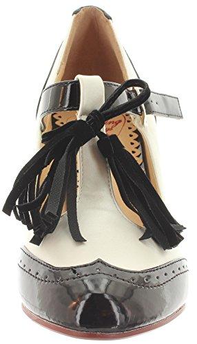 Dancing Days - Tira de tobillo Mujer blanco y negro