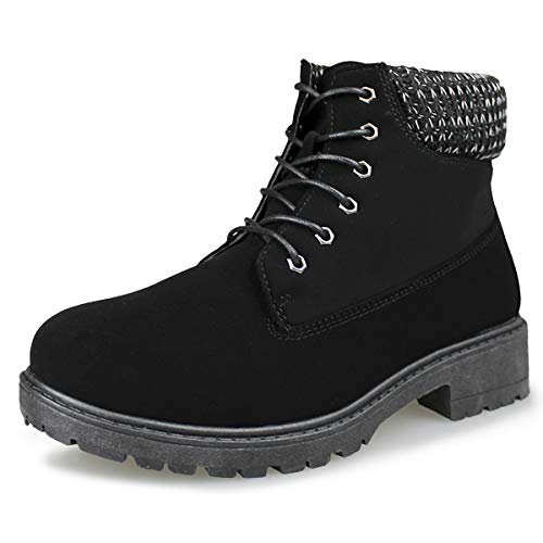 Hawkwell Women's Lace Up Outdoor Work Combat Boots Waterproof Ankle Bootie