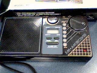 Travelers LCD Clock 2 Bands Radio MFR-88 FM/AM Clock Radio Model#MFR-88