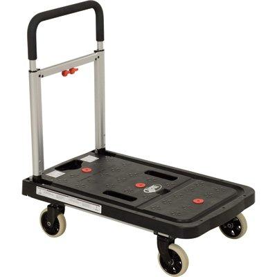 Vestil FF-FPT-1627 Fold Flat Plastic Cart, 26.75'' Length, 16.25'' Width, 36.5'' Height, 300 lb., Black by Vestil (Image #6)