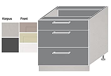 Berühmt Küchenschrank Schubkasten Unterschrank 90cm Vollauszug Korpus AO05