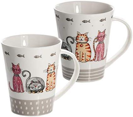 SPOTTED DOG GIFT COMPANY Tazas de té, Tazas de café, Conjunto de 2 ...