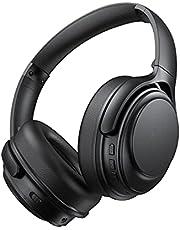 Active Noise Cancelling Headphones, 40 Hours Playtime Bluetooth Wireless Headphones, aptX Codec Hi-Fi Audio Sound, CVC 8.0 Mic for TV PC Cellphone, USB-C Fast Charging