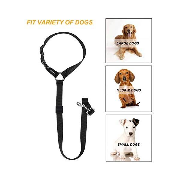 418BrF32obL CGBOOM Universal Hunde Sicherheitsgurt fürs Auto Kopfstütze, Multifunktions Verstellbar Hundegurt Sicherheitsgeschirr…