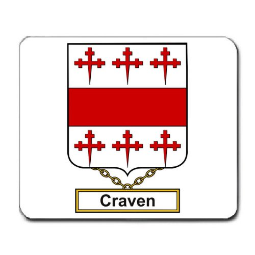 - Craven Family Crest Coat of Arms Mouse Pad