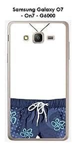 Carcasa Samsung Galaxy O7–On7–G6000Design Mon Phone en Short Azul
