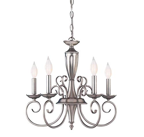 (Savoy House KP-1-5005-5-69 Spirit 5-Light Chandelier in Pewter)