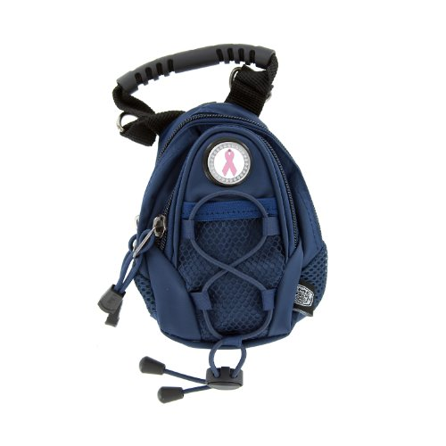 CMC Golf Pink Ribbon Breast Cancer Awareness Mini Day Pack (Navy), Outdoor Stuffs