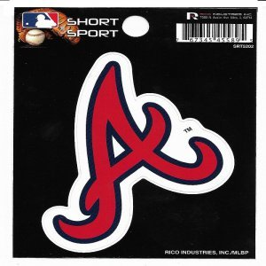 Rico Industries Atlanta Braves Short Sport Decal