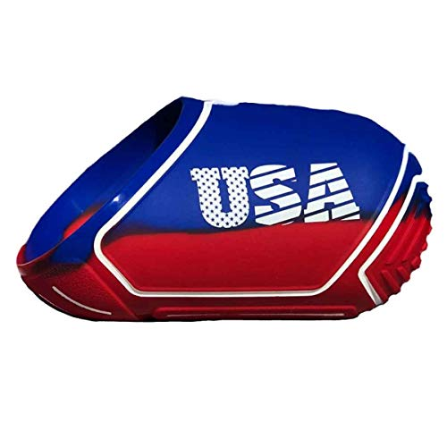 Exalt Paintball Tank Cover - Medium 68-72ci - USA Red/Blue