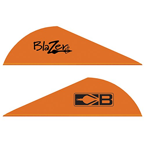 Bohning 10831NO2 Blazer Vanes 2-Inch, Neon Orange, 36-Pack Bohning Blazer Broadhead Vanes