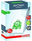 Miele 10123230 AirClean 3D Efficiency Dust Bag, Type U, 4 Count, 2 Air Filters