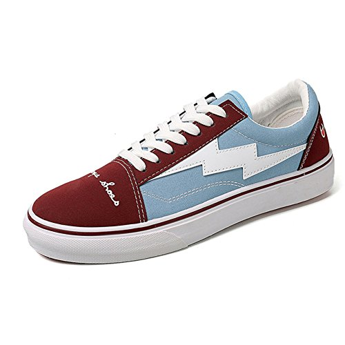 Price comparison product image MMM Shoes Mens Casual Shoes Spring Fall Men's Low-Top Sneakers Flat Loafers Lace-up Deck Shoes College Blue,  Black,  Khaki (Color : Blue,  Size : 40)