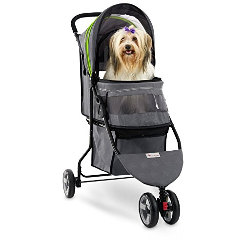 Good2Go Paws Up Pet Stroller, 34 in, Black/Gray
