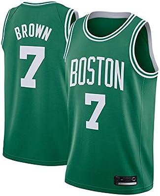OLIS Hombre NBA Boston Celtics 7# Brown Retro T-Shirt de ...