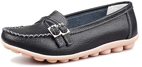 Basses Femme Flats Loafer Noir Fangsto qTvF6xWw