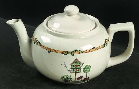 - Thomson Pottery Birdhouse ~ Teapot and Lid 4 3/8