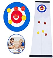 GAYISIC Tabletop Curling Game Family Indoor Sport Games for Kids and Adults Shuffleboard Mini Desktop Game wit