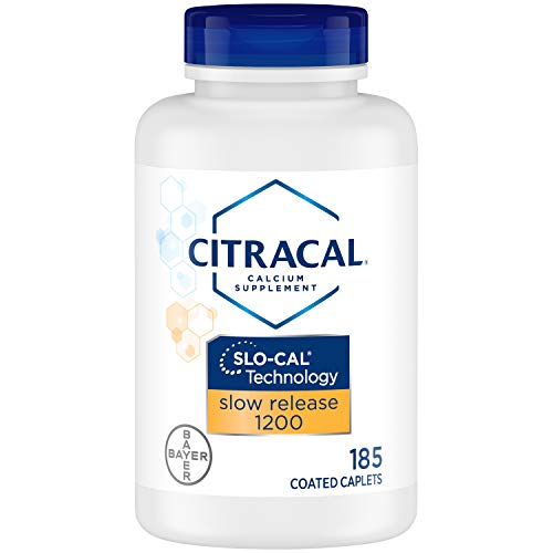 Citracal Slow Release 1200, 1200 mg Calcium Citrate and Calcium Carbonate Blend with 1000 IU Vitamin D3, Bone Health…