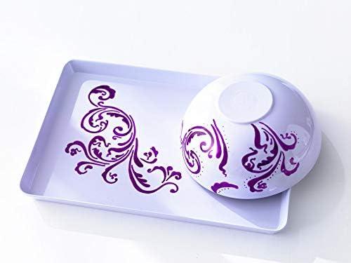 Porzellan-Pinselstift 4er schwarz-rot-lila-rosa Flexible Pinselspitze mit variab