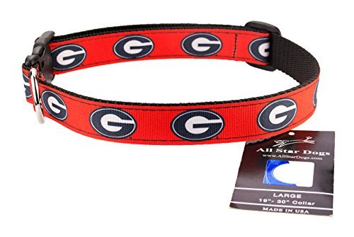 All Star Dogs Georgia Bulldogs Ribbon Dog Collar - Medium