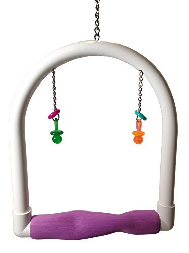 FeatherSmart Parrot Bird PVC Swings Medium by FeatherSmart Parrot Bird PVC Swings