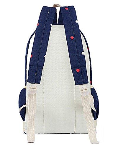 Backpack Mujer Oscuro Azul Escolares Escolar Mochilas Hombro Chicas Yilianda Para Mensajero Lona Bolsa Mochila Casual De dqwU6dnZxt