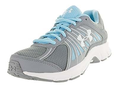 Under Armour Women's UA Dash RN Steel/Sky Blue/White Athletic Shoe