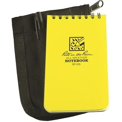Rite in the Rain 135B-KIT Top-Spiral Notebook Kit, Black By Tabletop King