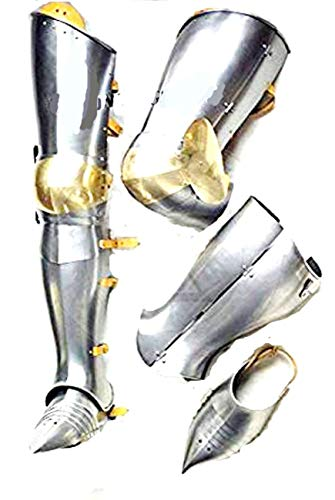 Halloween Warrior Medieval Leg Guard Armor Steel Graves Medieval Costume