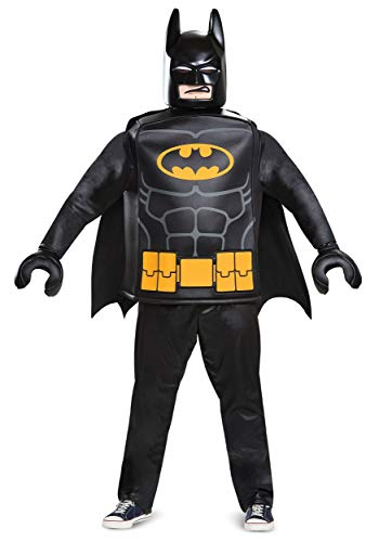 Disguise Men's Lego Batman Deluxe Adult Costume, Black, One -