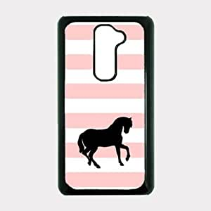Love Horses Baby Pink Stripes Cute Hipster LG G2 Optimus G Case - For LG G2